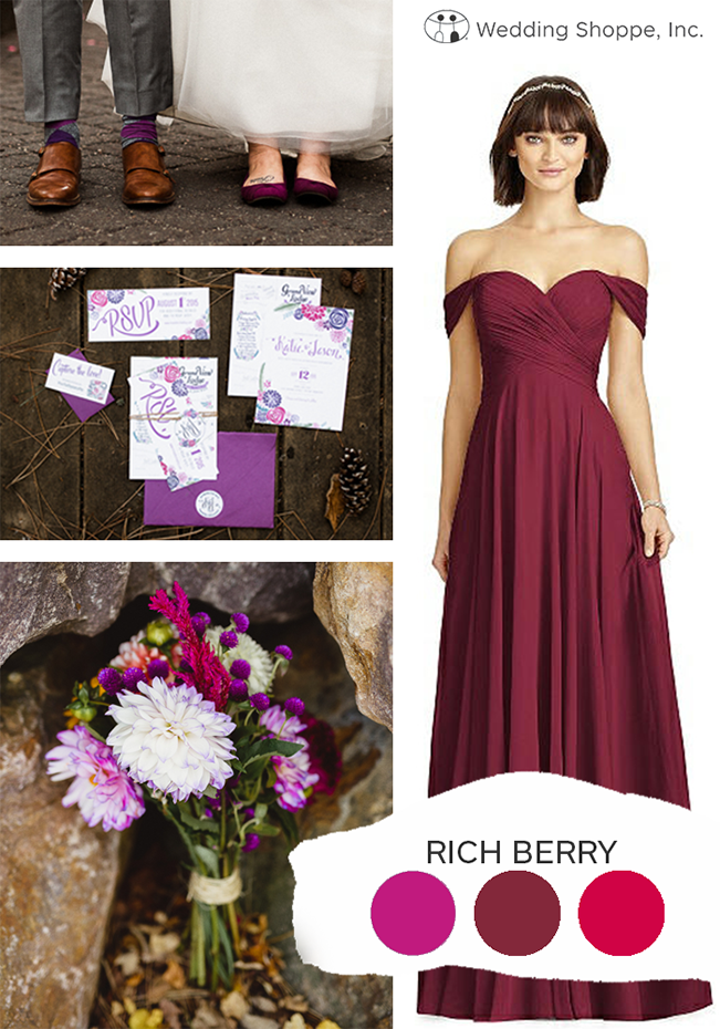 rich berry fall wedding color palette