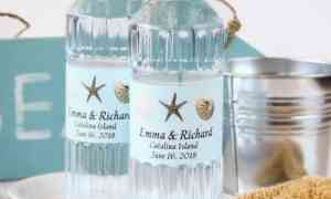 Fun Wedding Favor – Customized Water Bottles