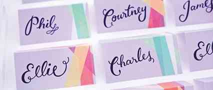 Washi Tape Escort Cards