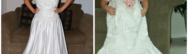 The Girl Has Taken A Photo In Her Mom's Wedding Dress Every Year