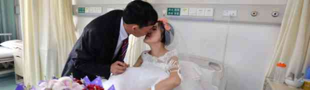 Sick Chinese Bride Celebrates Wedding In Her Hospital Bed