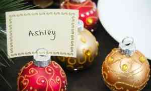 Fun Wedding Favors – Ornament Place Card Holders