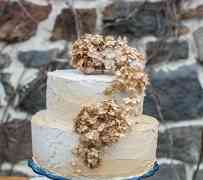 Wedding Idea : Ombre Gold Wedding Cake for Fall Wedding