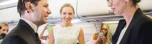 This Couple Got Engaged, Married and Taken on Their Honeymoon—All on One Flight