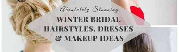 Stunning winter bridal hairstyles, clothing and cosmetics ideas